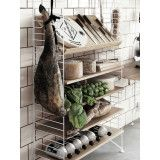 String Magazine Shelf Wood 78 x 30 cm