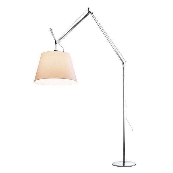 Artemide Tolomeo Mega Terra vloerlamp LED met toetsdimmer aluminium