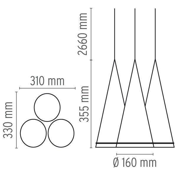 Flos Outlet - Fucsia 3 hanglamp