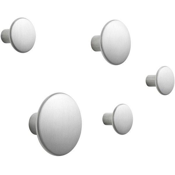 Muuto The Dots Metal haak set van 5