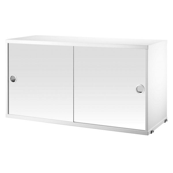 String Cabinet with mirror doors 78 x 20 x 37 cm