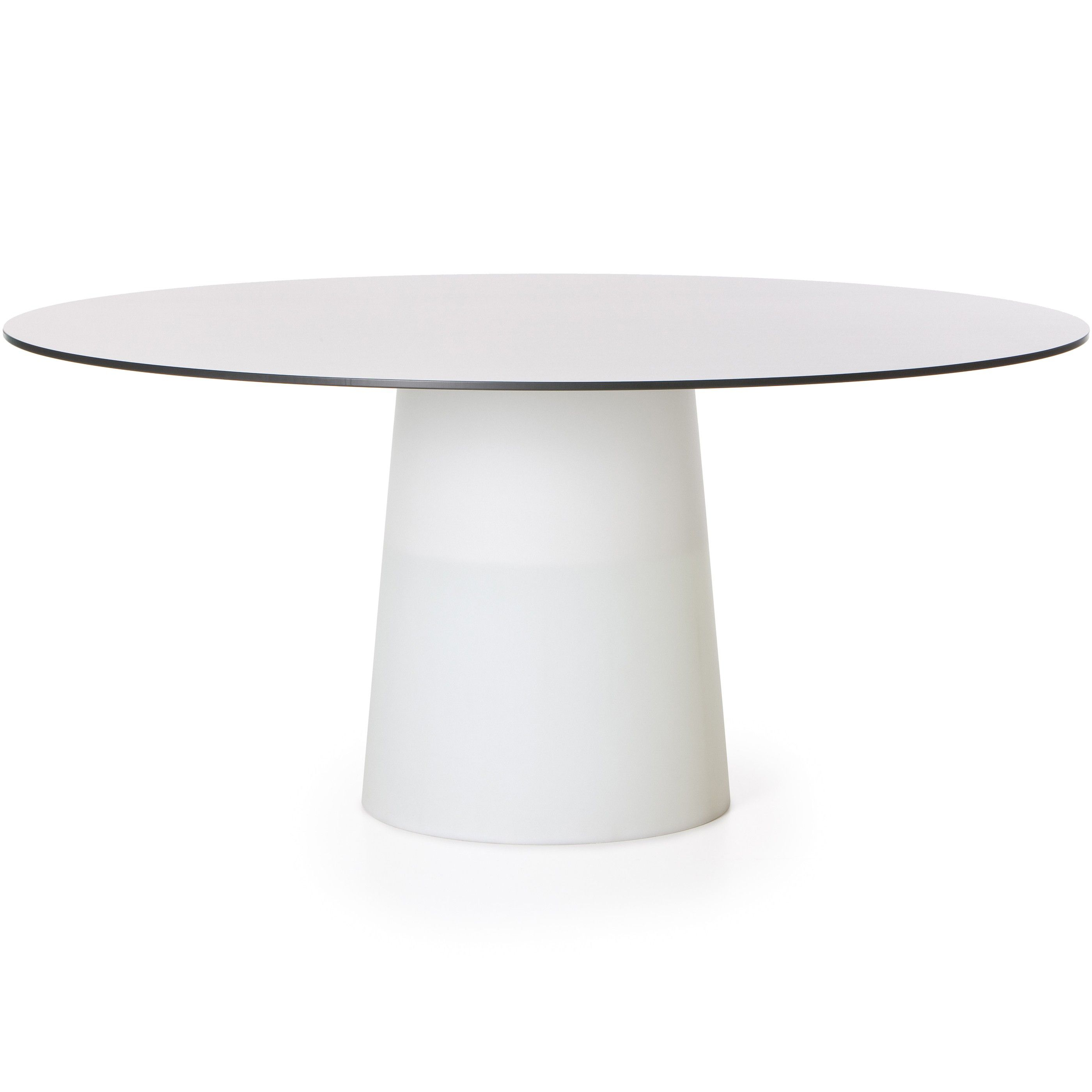 Tafel Rond 120.Moooi Container Tafel Rond Wit 120