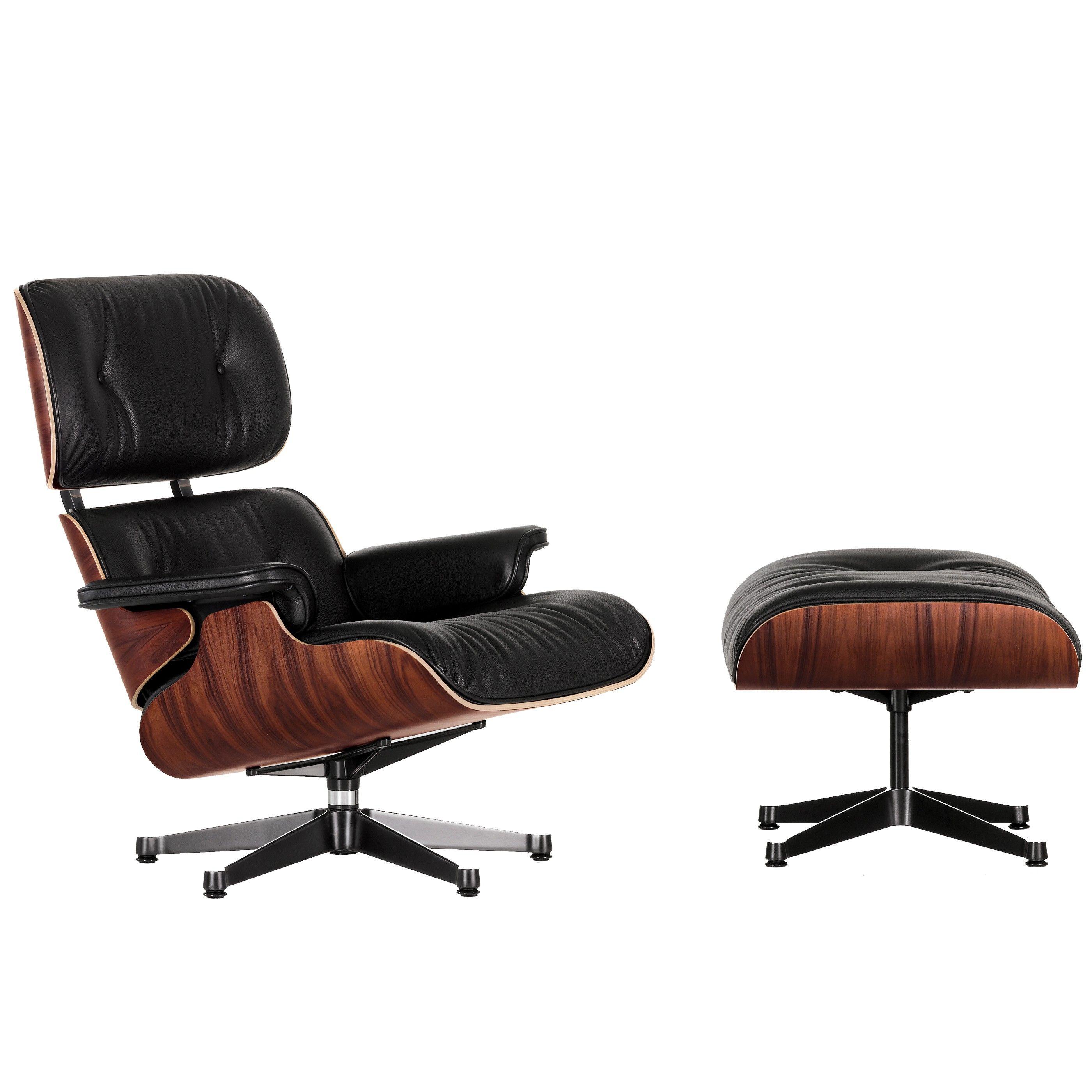 Fauteuil Leer Hout.Vitra Eames Lounge Chair Met Ottoman Fauteuil Klassieke Afmetingen