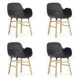 Normann Copenhagen Set aanbieding Form Oak Armchair stoel (4x)