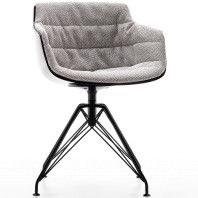MDF Italia Flow Slim Chair gestoffeerde stoel met LEM onderstel