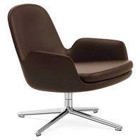 Normann Copenhagen Era Lounge Chair Low Swivel fauteuil met aluminium onderstel