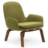 Normann Copenhagen Era Lounge Chair Low loungestoel met walnoten onderstel
