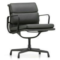 Vitra Aluminium Chair Black EA 208 Soft Pad
