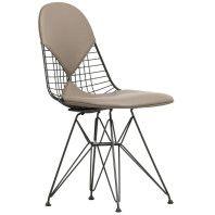 Vitra Eames Wire Chair DKR-2 stoel gepoedercoat onderstel
