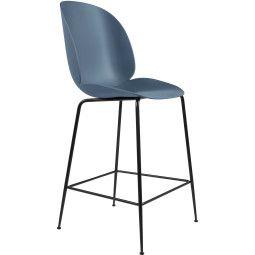 Gubi Beetle Chair barkruk 65cm met zwart onderstel