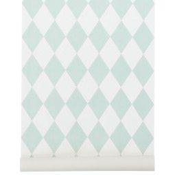Ferm Living Outlet - Harlequin behang mint