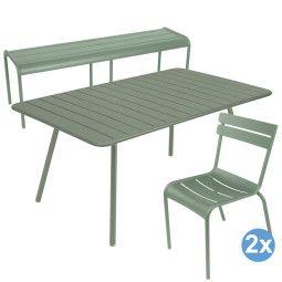 Fermob Luxembourg tuinset 165x100 tafel + tuinbank + 2 stoelen