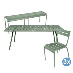 Fermob Luxembourg tuinset 207x100 tafel + tuinbank + 3 stoelen