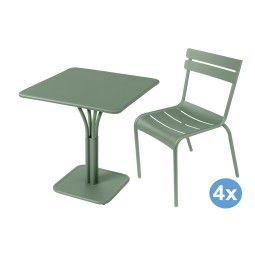 Fermob Luxembourg tuinset 71x71 tafel + 4 stoelen (chair)