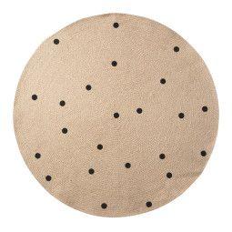 Ferm Living Black Dots vloerkleed 100