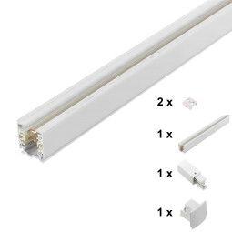 First Light Set railsysteem 1 meter wit voeding eind