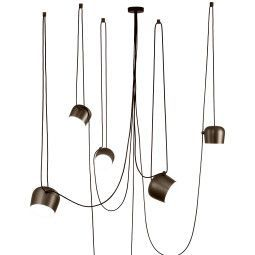 Flos Aim hanglamp set 5 LED bruin