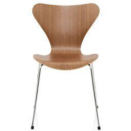 Fritz Hansen Vlinderstoel Series 7 stoel naturel fineer