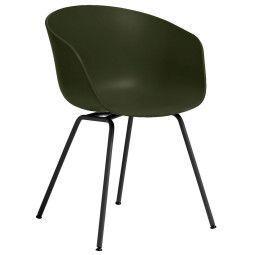 Hay Oulet - About a Chair AAC26 stoel met zwart onderstel Green