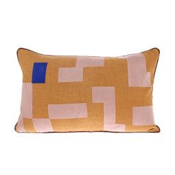 HKliving Stitched Squares dubbelzijdig kussen 60x35