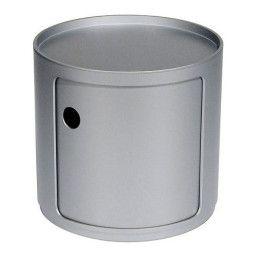 Kartell Outlet - Componibili bijzettafel small (1 comp.) zilver