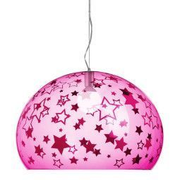 Kartell FL/Y Kids Sterren hanglamp small roze