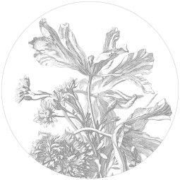 KEK Amsterdam Engraved Flowers behangcirkel 142.5 wit