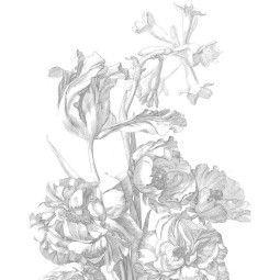 KEK Amsterdam Engraved Flowers behangpaneel