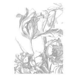 KEK Amsterdam Engraved Flowers I behang