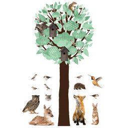KEK Amsterdam Forest Friends Tree XL muursticker