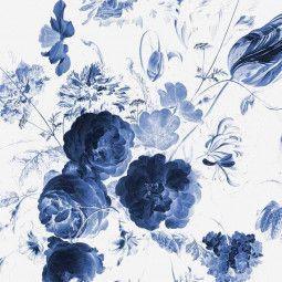 KEK Amsterdam Royal Blue Flowers I behang