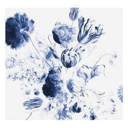 KEK Amsterdam Royal Blue Flowers II behang
