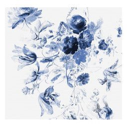 KEK Amsterdam Royal Blue Flowers III behang