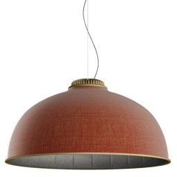 Luceplan Farel hanglamp akoestisch messing