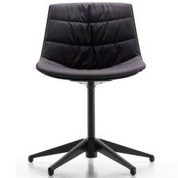 MDF Italia Flow Chair gestoffeerde stoel met vijfpoot