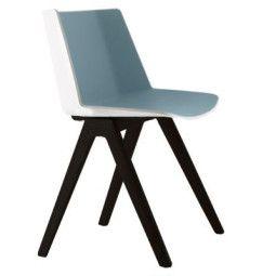 MDF Italia Aïku Wood stoel donkerbruin eiken onderstel