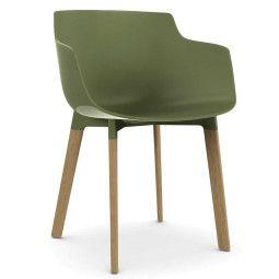 MDF Italia Flow Slim Color Cross Oak stoel