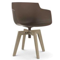 MDF Italia Flow Slim Color Oak stoel gebleekt