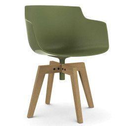 MDF Italia Flow Slim Color Oak stoel naturel