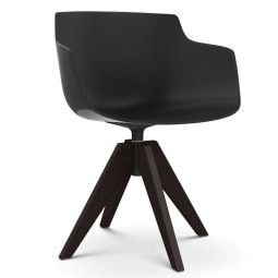 MDF Italia Flow Slim Color VN Oak stoel bruin
