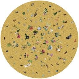 Moooi Carpets Garden of Eden Round Netting yellow vloerkleed 350