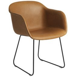 Muuto Fiber Sled gestoffeerde stoel