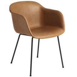 Muuto Fiber Tube gestoffeerde stoel