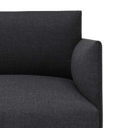 Muuto Outline bank 3-zits met chaise longue links
