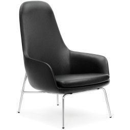 Normann Copenhagen Era Lounge Chair High loungestoel met verchroomd onderstel