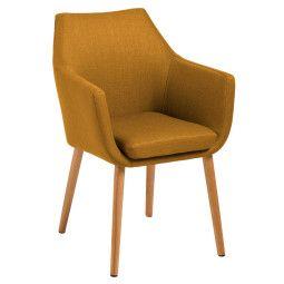 Nuuck Vinder stoel met houten onderstel