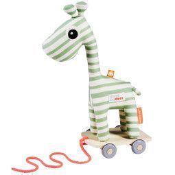 Done by Deer Raffi trek speelgoed groen