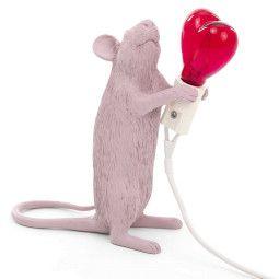 Seletti Mouse Lamp standing tafellamp roze