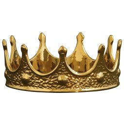 Seletti My Crown Gold Edition woondecoratie
