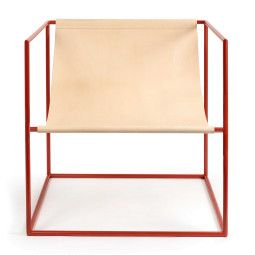 Valerie Objects Solo seat fauteuil leer